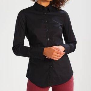 Banana Republic Black Riley Button Up Shirt Size 0